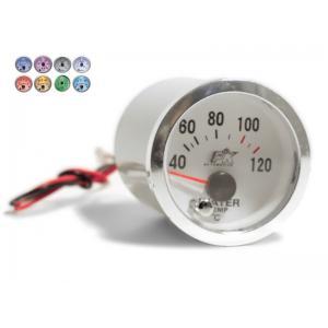 Objednávací kód: 24111  Palubný prístroj merač teploty vody - rozsah 40-120°C mantážny priemer 52 mm - 7 farebné podsvietenie celého merača